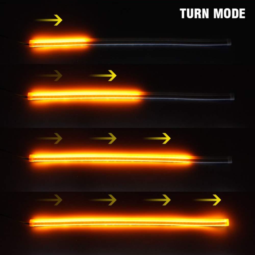 ultrafina luz de circulaci/ón diurna Tira de luces LED para coche de 60 cm