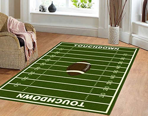 Football Comforter (Dalyn Rug All Stars Football Ground Kids Rug)