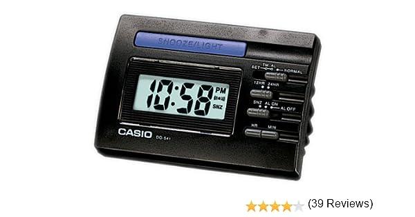 CASIO 10422 DQ-541-1R - Reloj Despertador digital negro: Amazon.es: Hogar