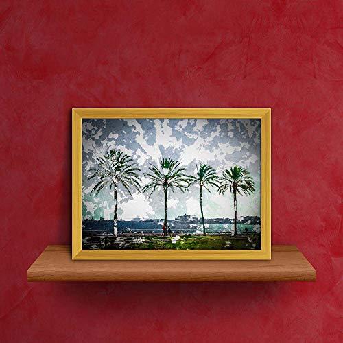 Amazon.com: ArtzFolio Palm Trees Along Coast in Palma De ...