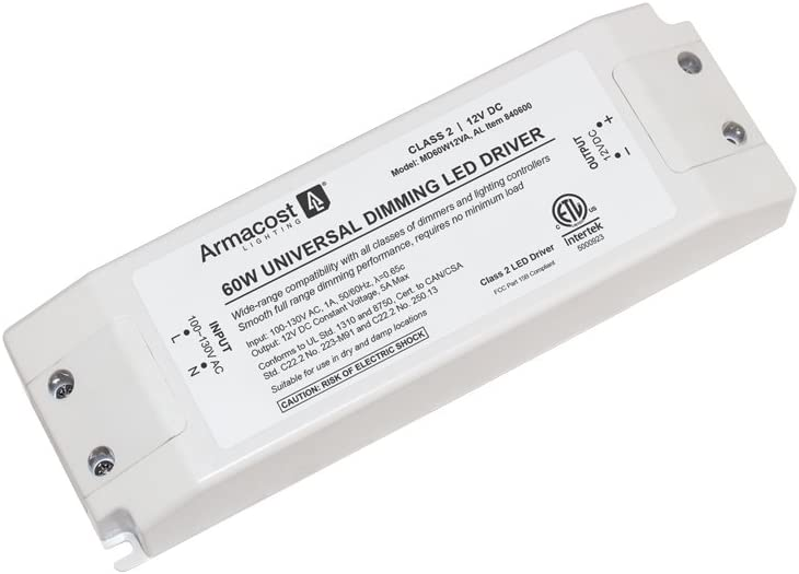 24 Watt Armacost Lighting 860240 24 Volt Universal LED Dimmable Driver White