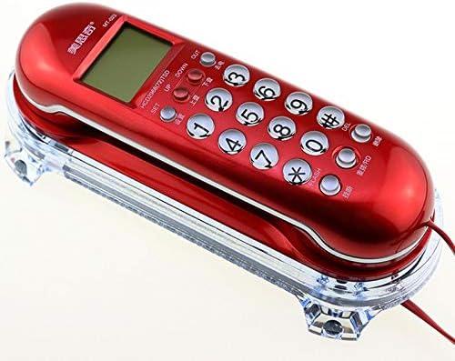 Zhangmeiren Creativo Y Lindo Identificador De Llamadas Hotel Pequeña Extensión Hogar Teléfono De Pared Teléfono Fijo (Color : Red): Amazon.es: Hogar