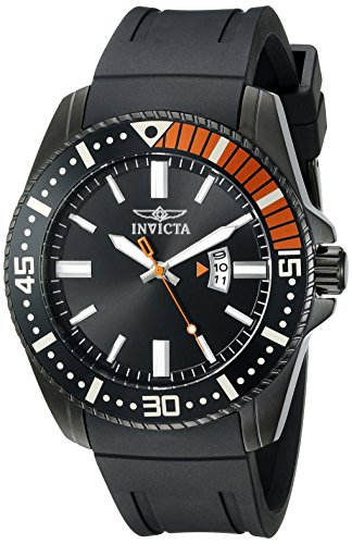 - Invicta Men's 21449 Pro Diver Analog Display Quartz Black Watch