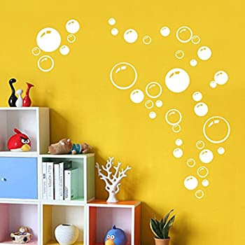 Amazon.com: Create-A-Mural Bubble Wall Decals ~Cute Air Bubbles for ...