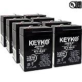 KEYKO Genuine KT-640 6V 4Ah Battery SLA Sealed Lead Acid / AGM Replacement - F1 Terminal - 8 Pack