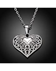 Korea Style Romantic Hollow Heart Pendant Necklace For Lover Girl Sweater Chain Fashion Jewelry