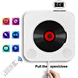 Portable CD Player with Bluetooth, Wall Mountable CD Music Player Home Audio Boombox