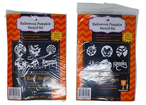 Pumpkin Stencil Set (Pack of 2) | Jack-O'-Lantern Halloween Party Decoration Supplies