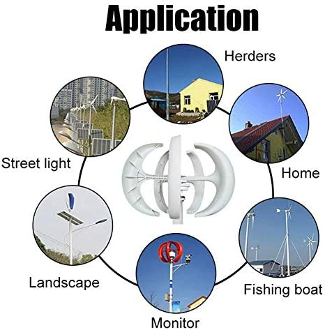 400W/600W 12/24V Laterne 5-Blatt-Wind-Turbinen-Generator Haushaltsstromerzeuger W/Controller for Solar-Straßenbeleuchtung, Boot, Marine. (Specification : 600W 24V)