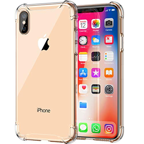 CASEKOO iPhone Xs Case Only, Crystal Clear Protective Soft TPU [Shock Absorption] Slim Transparent Cover for iPhone Xs 5.8 inch (2018) - Full Clear