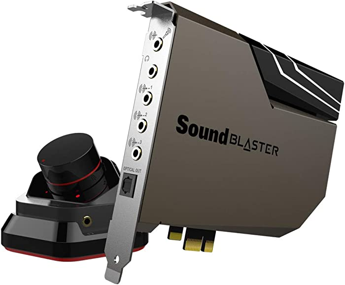 Creative Sound Blaster AE-7 Hi-Res Internal PCIe Sound Card, Quad-Core, 127dB DNR ESS Sabre-Class 9018 DAC, Xamp Discrete Bi-amp, Discrete 5.1/Virtual 7.1, Supports Dolby Digital Live, DTS Encoding