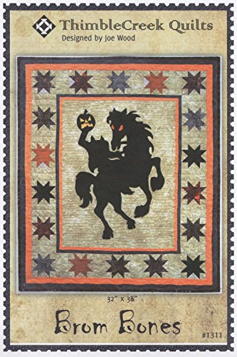 Bone Patterns - Brom Bones Headless Horseman Halloween Silhouette ThimbleCreek Quilt Pattern