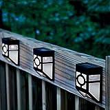 3 Pezzi - Lampada Solare 1 LED Ultra brillante - Polypropylene anti UV - Murale
