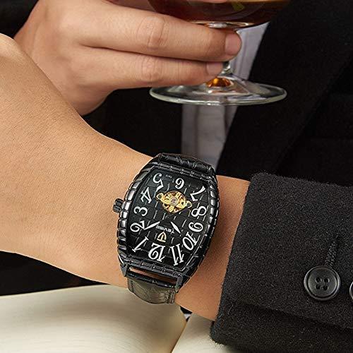 Automatisk klocka, herrklocka, mekanisk klocka, fyrkantig läderklocka, sport, Tavise 4 Tavise 4