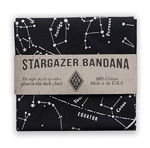 Glow-In-The-Dark Ink Star Chart Bandana made our CampingForFoodies hand-selected list of 100+ Camping Stocking Stuffers For RV And Tent Campers!