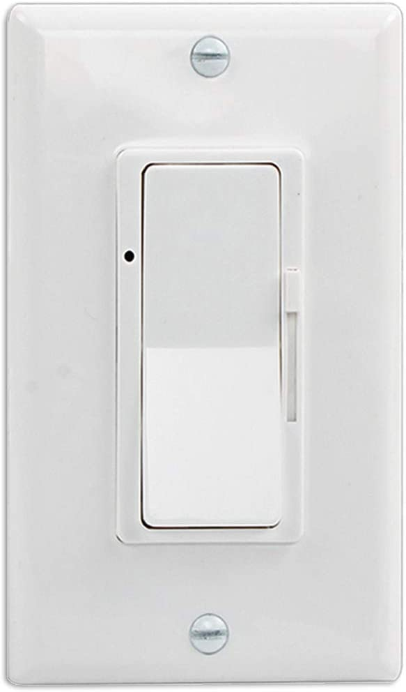 Wall Switch, On/Off LED Dimmer Switch for Dimmable LED Panel Lights, CFL, Halogen and Incandescent Bulbs, with Wallplate, Single-Pole/3-Way, ETL Listed: Industrial & Scientific