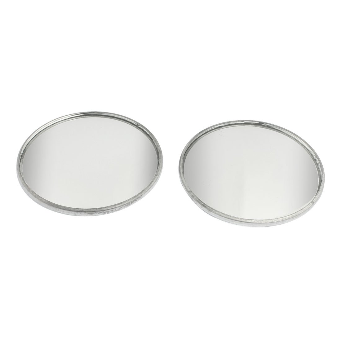 uxcell 2 Pcs Adhesive Round Side Rearview Blind Spot Mirrors Silver Tone 2' a12101700ux0084