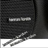 Buildent (TM) 3D Harman/Kardon hi-fi speaker stereo speaker aluminum badge emblem Sticker Car Accessories Styling (2 pcs)