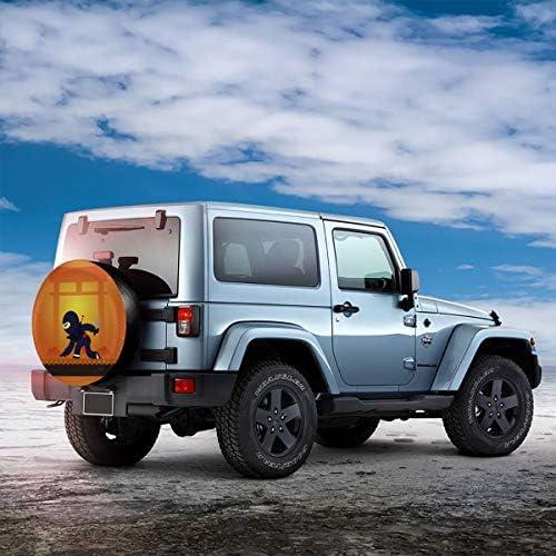 スペア タイヤ カバー タイヤ 収納 保管カバー 車用 17 Inch