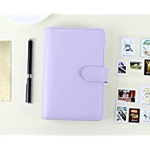 Passion leather spiral notebook Original office personal diary/week planner/agenda organizer Cute ring stationery binder purple A6