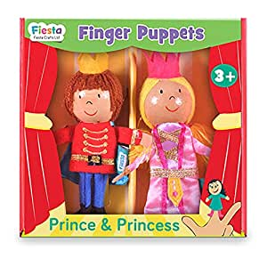 Fiesta Crafts T-2851 Prince and Princess Finger Puppet