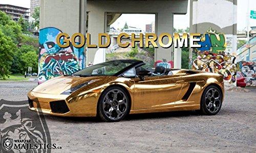 VViViD Gloss Chrome Gold Vinyl Wrap Adhesive Film Roll Air