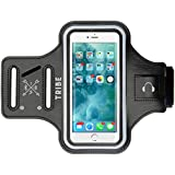 TRIBE Water Resistant Cell Phone Armband Case for iPhone 8, 7, 6, 6S, Samsung Galaxy S9, S8, S7, S6 with Adjustable Elastic Band & Key Holder for Running, Walking, Hiking