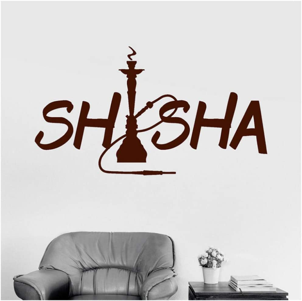 Etiqueta De La Pared Cachimba Que Fuma Calcomanías De Pared Para Shisha Bar Etiqueta De La Pared Removible Para La Tienda De Arte De Pared Mural De Vinilo Wallpaper