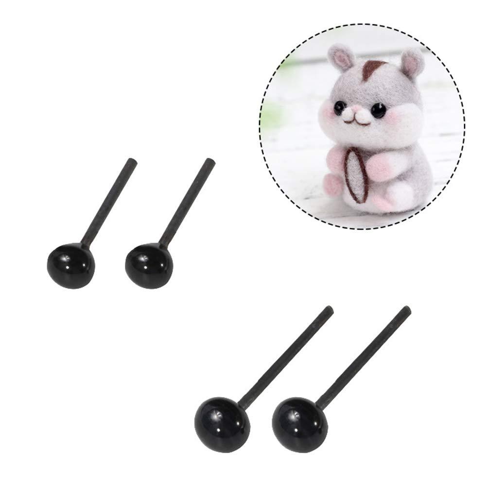 SUPVOX 300 st/ücke DIY Tieraugen Schwarz Sicherheitsnasen Augen DIY N/ähen Handwerk Tasten f/ür B/är Puppe Puppe Tierspielzeug