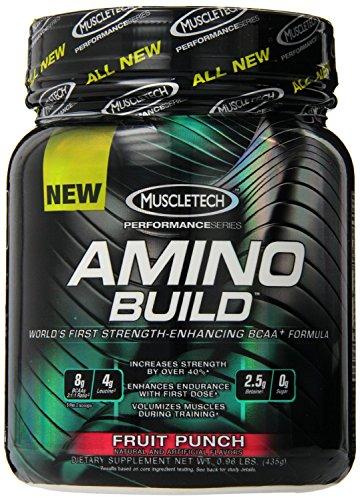 Amino построить к MuscleTech - высокую прочность Повышение BCAA после тренировки Дополнение (фруктовый пунш, 50 порций)