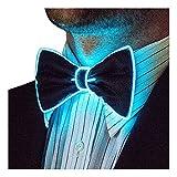 Neon Nightlife Light Up Bow Tie for Men, Aqua