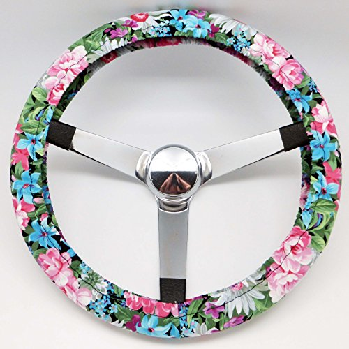 Mana Trading Handmade Steering Wheel Cover Country Flower Garden