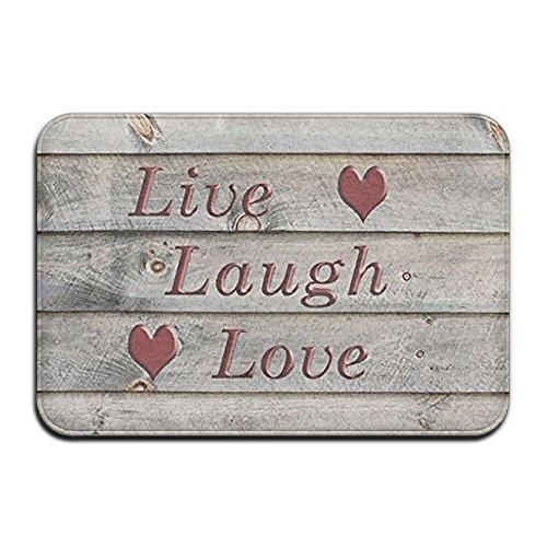(Wyuhmat1 Non-Slip Mat 40x60cm Doormat Live Laugh Love Non-Slip Rug - Collection Kitchen Dining Living Hallway Bathroom Pet Entry Rugs )