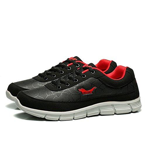 37 Zapatillas Hombres de Primavera EU Zapatos Verano Hombres Negro de Size New Deporte de para los Transpirable Ligero Casuales de Tamaño Gran Otoño Zapatillas Senderismo Zapatos de 46 Viaje 6U1dq0