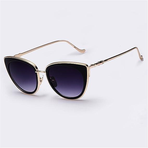 3604bcd4767bb qbling technolog Cadre en métal Cat Eye Lunettes de soleil Femmes Lunettes  de soleil femme de
