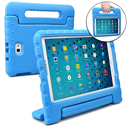 Cooper Dynamo [Rugged Kids Case] Protective Case for Samsung Tab A 10.1 | Child Proof Cover with Stand, Handle, Screen Protector | SM-T580 T585 (Blue)