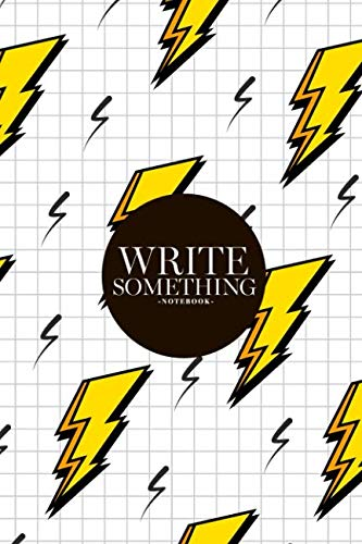 Notebook - Write something: Retro vintage 80s lightning bolts fashion style notebook, Daily Journal, Composition Book Journal, College Ruled Paper, 6 x 9 inches (100sheets)