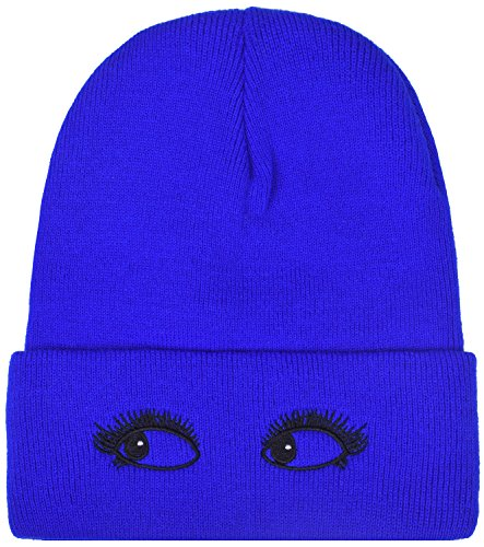 uffed Stocking Caps Knit Winter Hat For Women and Men Royal Blue (Royal Blue Winter Beanie)