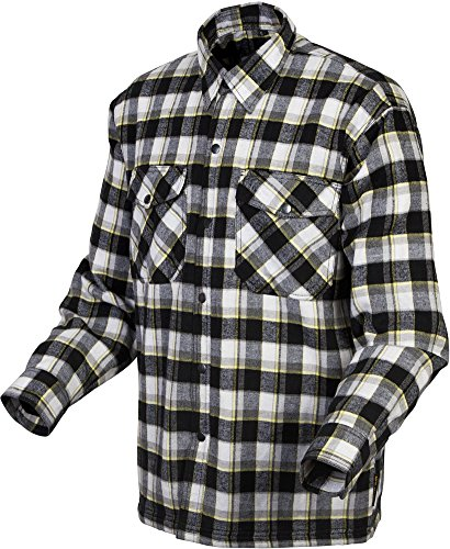 - Scorpion Covert Flannel Reinforced/Kevlar Lined Protective Shirt (Black/Yellow, XXX-Large)