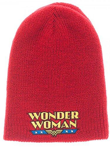 c17416b2d7c Image Unavailable. Image not available for. Color  DC Comics Womens Wonder  Woman Reversible Knit Hat Standard