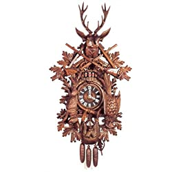 Original Eight Day Movement Musical Big Cuckoo Clock with 2 Songs and Dancers 55 Inch