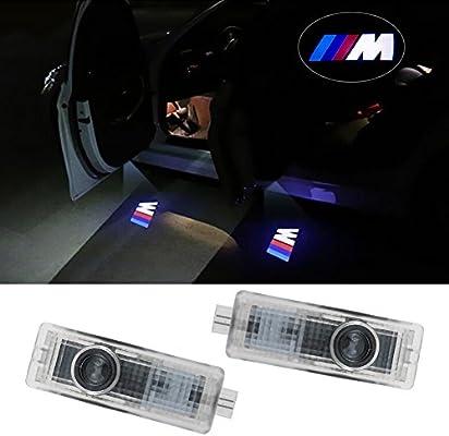 Lafurt 2 piezas de LED proyector Logo Puerta Iluminación ...