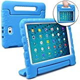 Cooper Dynamo Kids case Compatible with Galaxy Tab A 10.1 | Shock Proof Heavy Duty Kidproof Cover for Kids | Girls, Boys | Kid Friendly Handle & Stand, Screen Protector | Samsung SM-T580 T585 (Blue)