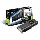 ASUS GeForce GTX 1080 TI 11GB Turbo Edition VR Ready 5K HD Gaming HDMI DisplayPort PC GDDR5X Graphics Card TURBO-GTX1080TI-11G