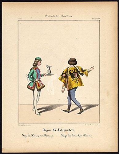 Antique Print-PAGE-DUKE OF FERRARA-GERMAN (Ferrara Dress)
