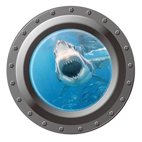 "Homefind 17"" x 17"" 3D Submarine Porthole View Of Ocean Under"