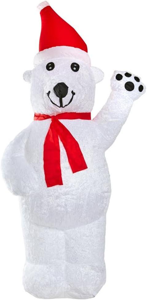 Amazon.com: 8 ft peluche oso polar inflable para interiores ...