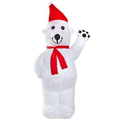 Amazon Com 8 Ft Plush Inflatable Polar Bear Indoor Outdoor