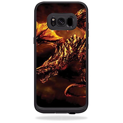 Danger Hard Case (Skin for LifeProof Fre case for Samsung Galaxy S8 - Golden Dragon | MightySkins Protective, Durable, and Unique Vinyl Decal wrap cover | Easy To Apply, Remove, and Change Styles | Made in the USA)