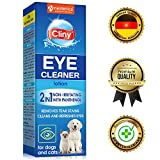 Cliny Universal Pet Eye Cleaner for Dogs & Cats - Natural Gentle Eye Infection Treatment - Tear Stain & Dirt Crust and Discharge Remover - Prevents and Controls Irritation
